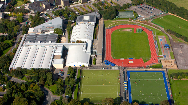 An aerial view of the Sports Training Village